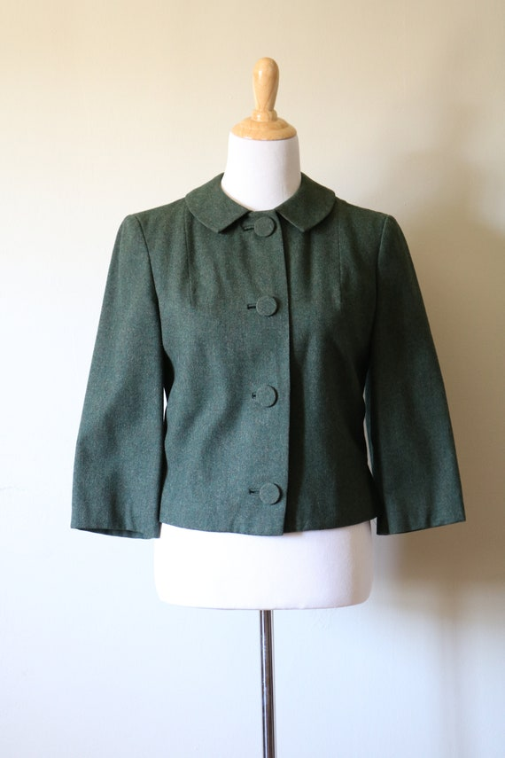 1990s Vintage Green Pendleton Wool Jacket - image 5
