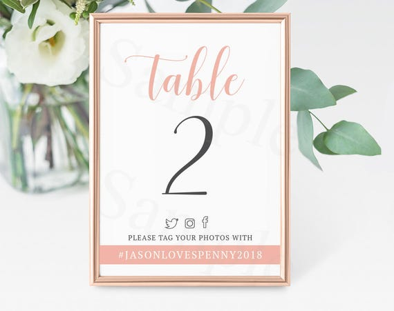 photo about Printable Table Cards named Printable Desk Quantities with hashtag - Marriage Desk Playing cards - 1 in direction of 20 Electronic Obtain - Social Media Printable