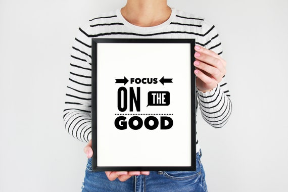Focus On The Good Focus Quote Stay Focused Therapy Room Etsy Amazing Stay Focused Quotes