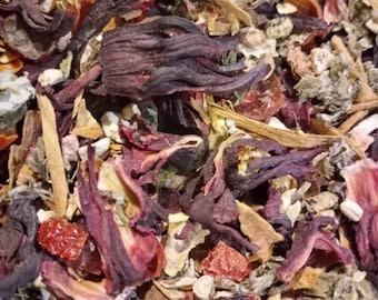 Root chakra tea blend root detox Ayurveda ashwagandha rhodiola root