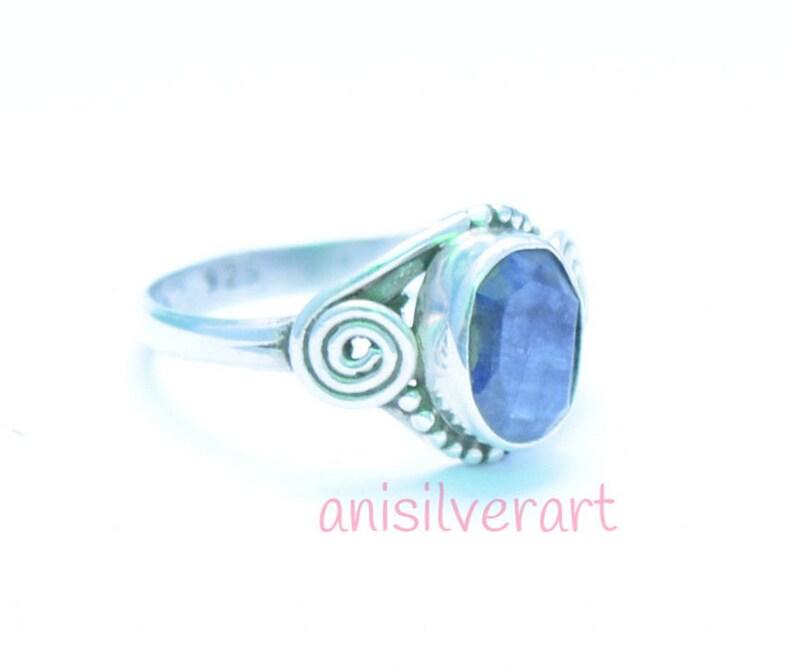 Lapis Lazuli Ring Stone Ring Gift Ring Lapis Lazuli Jewelry Blue Lapis Ring Silver Lapis Ring Lapis Lazuli Silver Ring Boho Ring