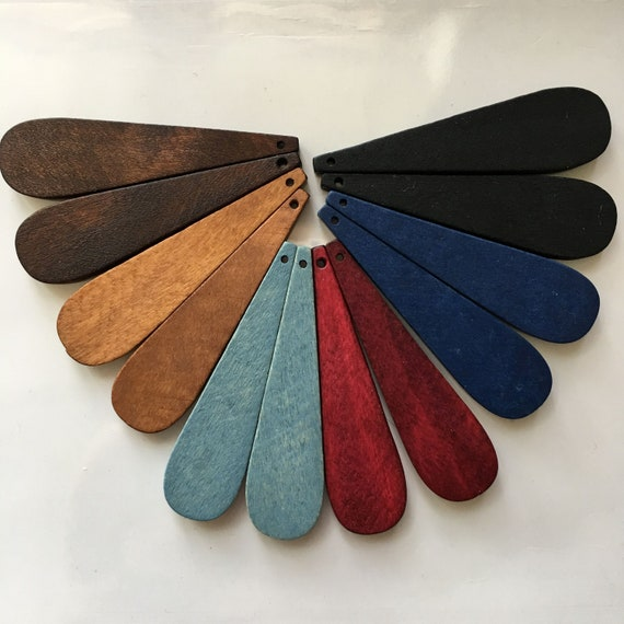 DIY Crafts WW008 100PCS 29*60 mm Drop-shaped Wooden Charm Unfinished Natural Wood Bead Flat Back Tear-Drop pendants