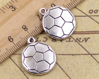 10 PCS 18*21 MM Football Charms Antique Silver Charm Pendants  Y11019