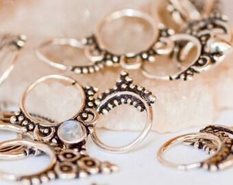 Septum Ring - 18gauge Septum Ring - Silver Septum Ring - 18g Septum Ring - Septum Hoop 18g - Silver Nose Ring - Silver Tribal Septum Hoop