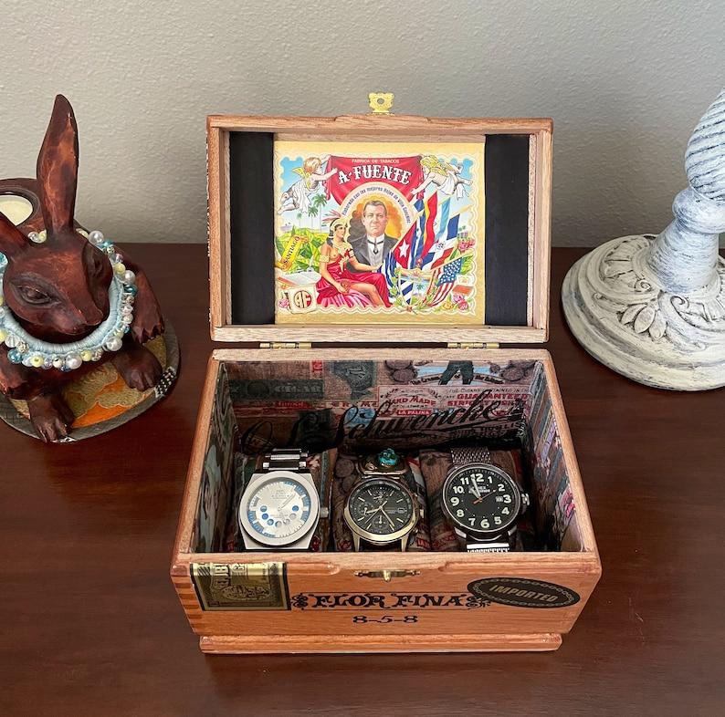 Men's Jewelry BoxWatch BoxUpcycled Cigar BoxJewelry image 6