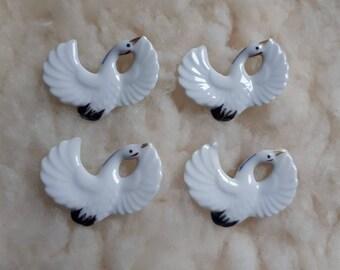 Decorative Japanese Cranes in porcelain - 4pcs