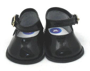 Doll Shoes - Black Patent Mary Jane Doll Shoe for Baby Born, Baby Born Sister and Baby Alive Dolls