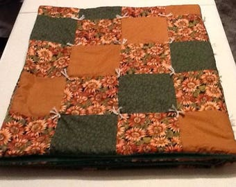 Lap Robe/Quilt, fall colors, 45x50