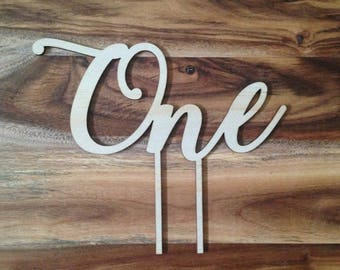 1st BIRTHDAY Cake Topper, wooden One cake topper for a first birthday party