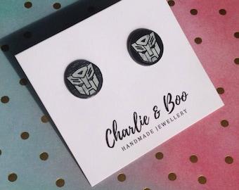 Black Studs Grey Marble Studs licenced character studs Fun Earrings Character Studs Fun Jewellery Fun Studs