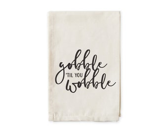 funny thanksgiving Thanksgiving cloth napkins Thanksgiving napkins Thanksgiving Gobble til you wobble Embroidered Cloth Dinner Napkins