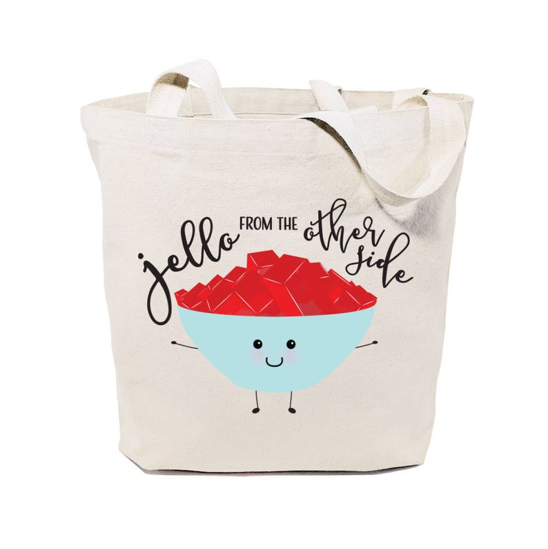 Jello From The Other Side Cotton Canvas Reusable Grocery Bag  dd8ea338c8