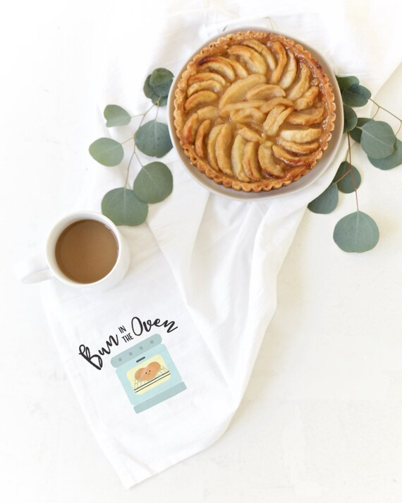 Bun In The Oven Soft And Absorbent Kitchen Tea Towel Flour Etsy