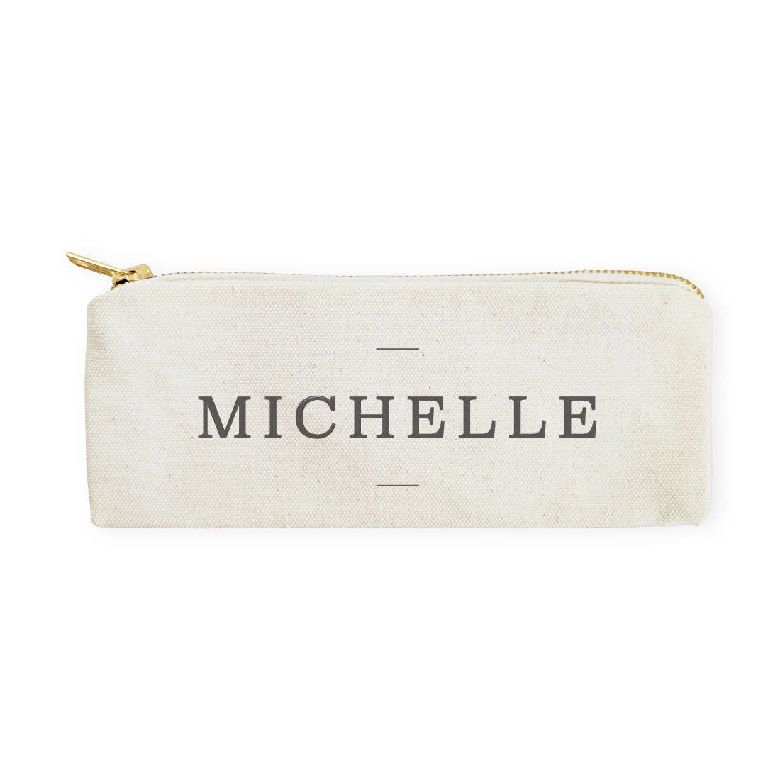 Personalized Modern Name Cotton Canvas Pencil Case and Travel Pouch for Back to School, Supplies, Gift for Her, Makeup Bag and Pouch, DIY