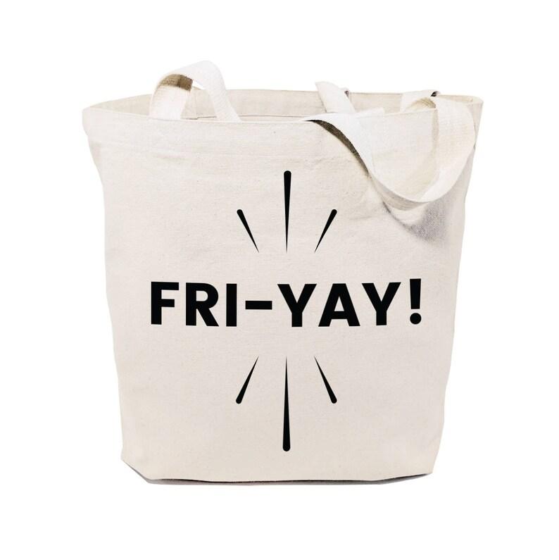 5088d862c698 Friyay Cotton Canvas Shopping Travel Reusable Grocery Bag