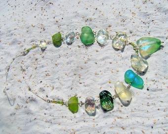 beach glass treasure necklace