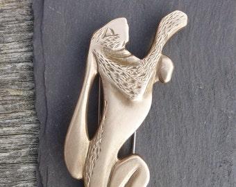 Boxing Hare Brooch/Kiltpin