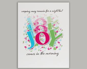 Joy Psalm 30 Encouragement Card//Christian Card//Blank Card//Blank Note Card//Inspirational Card//Scripture Verse Card