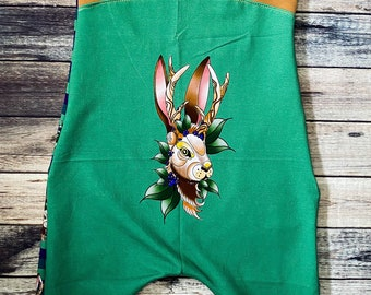 3m-12m Marvel Grow with Me Harem Shorts Bunny Bottoms Sz