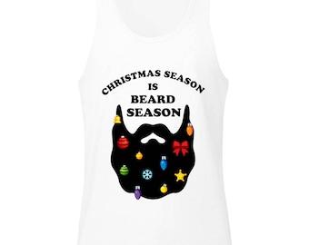 Christmas Season Is Beard Season Men's Tank Top Shirt