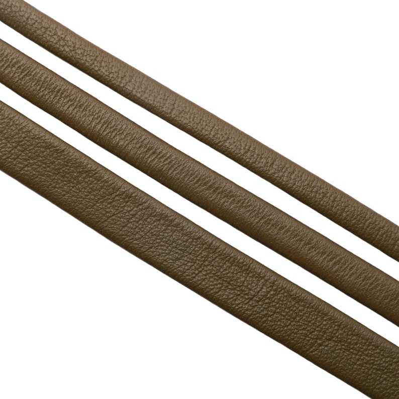 8 mm or 12 mm wide Olive 6 mm 20 cm Genuine Flat Folded Nappa Leather Cord