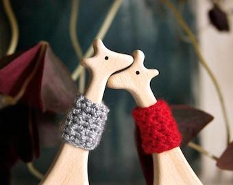 Giraffes in Love | Wooden toy |