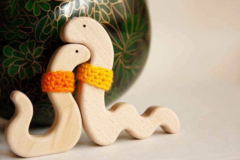 Snakes In Love Wooden Toy