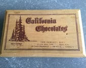 Items Similar To 1950s California Chocolates Wooden Box Made In