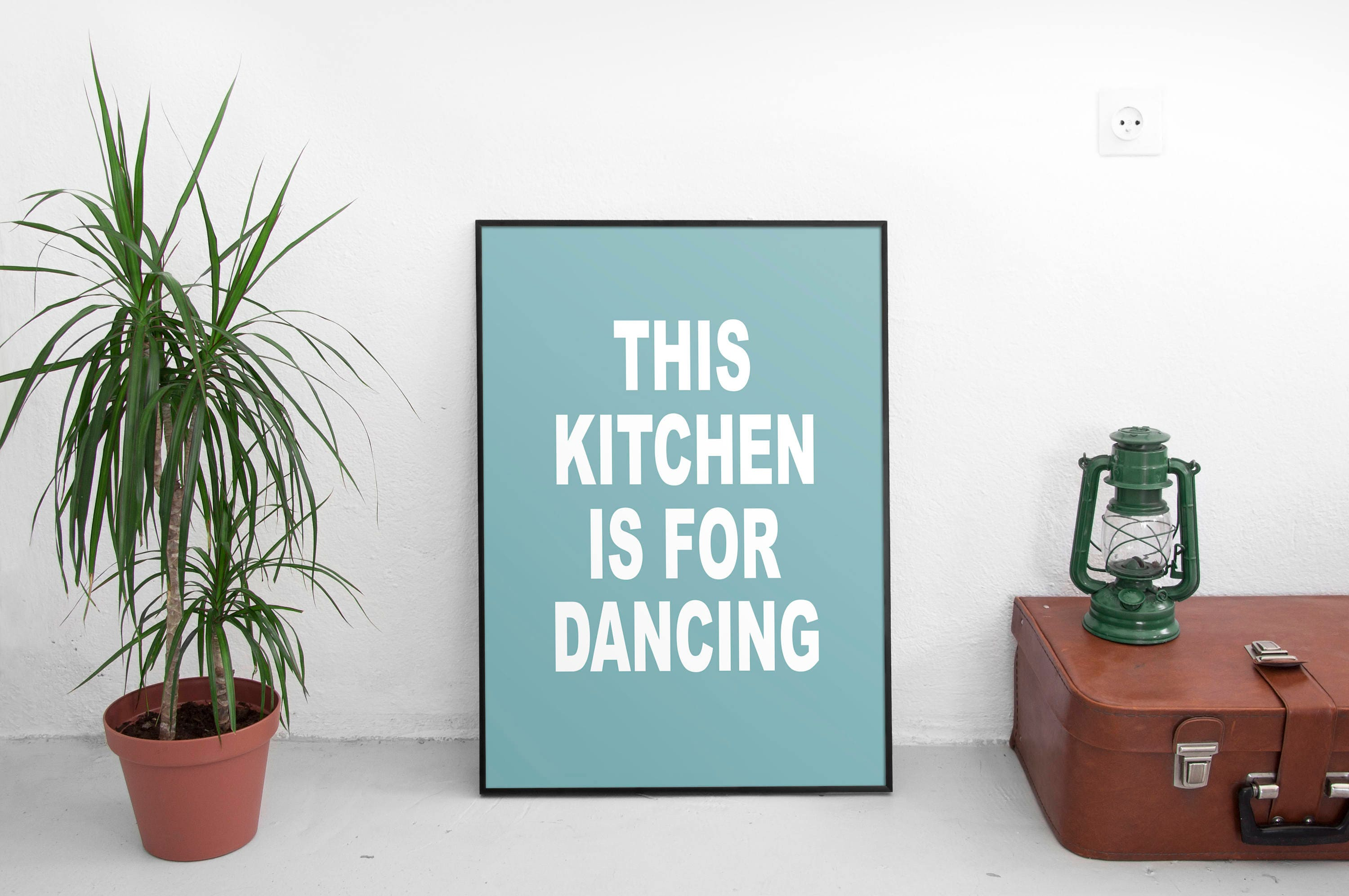This Kitchen Is For Dancing Printable Kitchen Decor Prints | Etsy