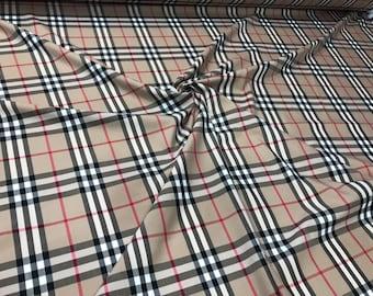 e87c5aa2d059 Checkered cotton fabric stretch.