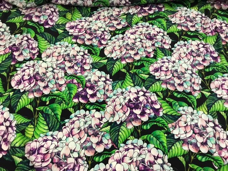 e3883d09cf05f Wisteria fabric. Hydrangea silk fabric.Designer silk fabric. Natural crepe  de chine fabric. Stretch silk fabric.