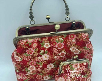 Retro style bags bags and handbags fabric bags clic clac bags vintage style bags ooak bags tailored bags handbags