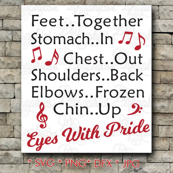 Band Quotes   Eyes With Pride Marching Band Quote Music Notes Svg File Jpg Dxf Png Digital Files