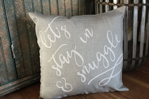 Lets Cuddle Pillow Quotes Decorative Pillows With Sayings Throw Pillows For Bed Pillow Cases Cute Pillows With Quotes Bedroom Decor
