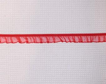 40 meter 1.6cm 0.62 wide light apricotcoffee mesh fabric stretch elastic tapes lace trim ribbon E7G851P181107D