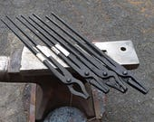 4 new Blacksmith Tongs by Picard 20 quot Pro set Wolf jaw, Flat, Round mandrel jaw made in Germany