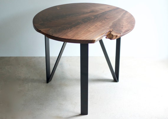 Delicieux SHIP READY Round Slab Claro Walnut Dining Table   Nook Table   Small Space  Dining   Live Edge   Modern Design