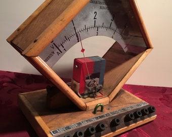 Voltage and current meter for demonstration and school purposes-vintage-voltage and current meter-school demonstration model