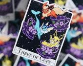 Three of Cups Tarot Sticker