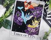Three of Cups Tarot Art Print