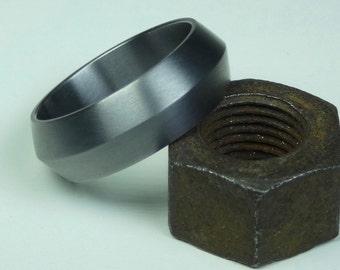 Hand crafted pure Tantalum ring. Mens ring. Mens wedding ring. Tantalum jewelry.
