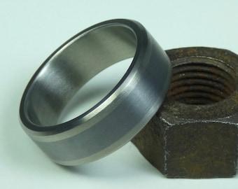 Solid Tantalum and Titanium mens ring. Mens wedding ring. Mens jewelry.