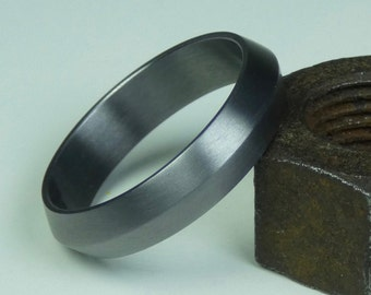 Solid pure Tantalum hand crafted wedding ring. Wedding band. Tantalum engagement ring. Tantalum jewelry.