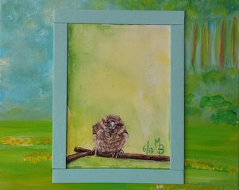 Series of 3 sweet paintings with animals. Original Acrylic Paintings