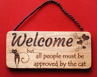 Poster welcome home witch. Black cat wall decoration. Wicca home