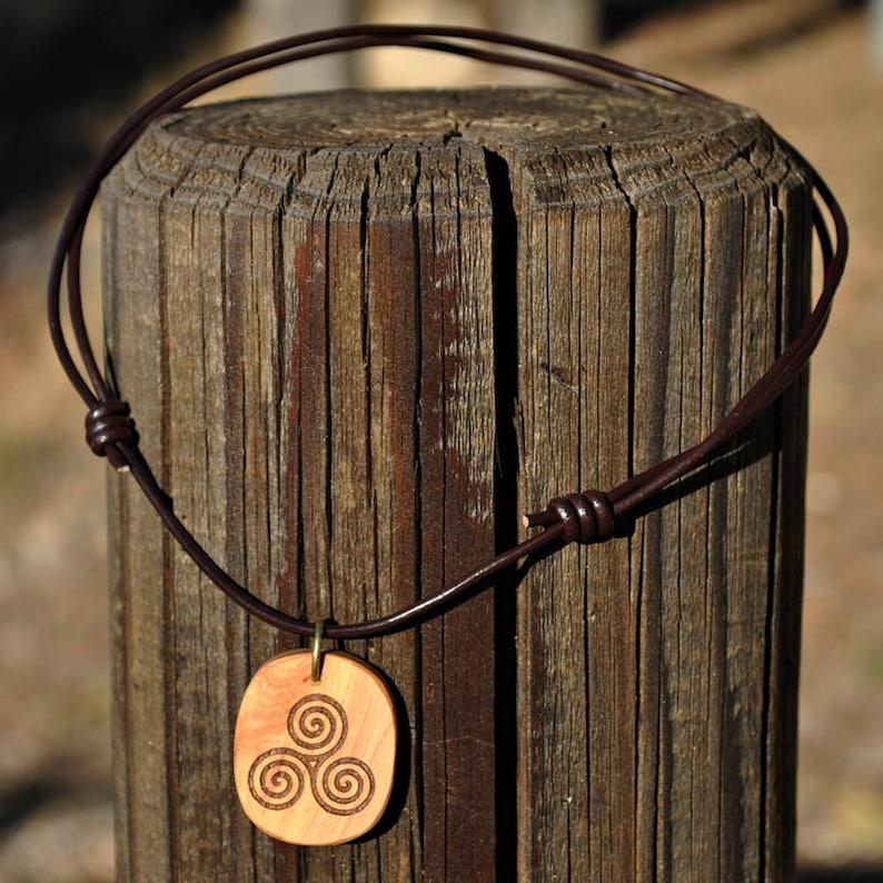 Triskel. Celtic talisman pendant. Protective amulet. Wicca. image 0