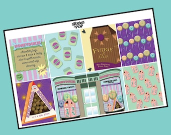 HONEYDUKES | Full Boxes Only | Harry Potter | Ron Weasley | Hermione Granger | JK Rowling | Matte Sticker Paper