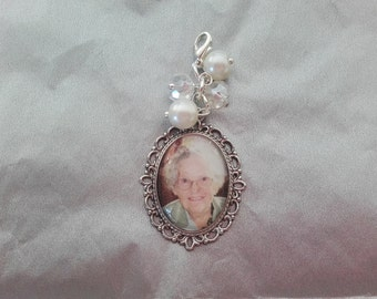 Bridal Wedding Memory Photo Charm
