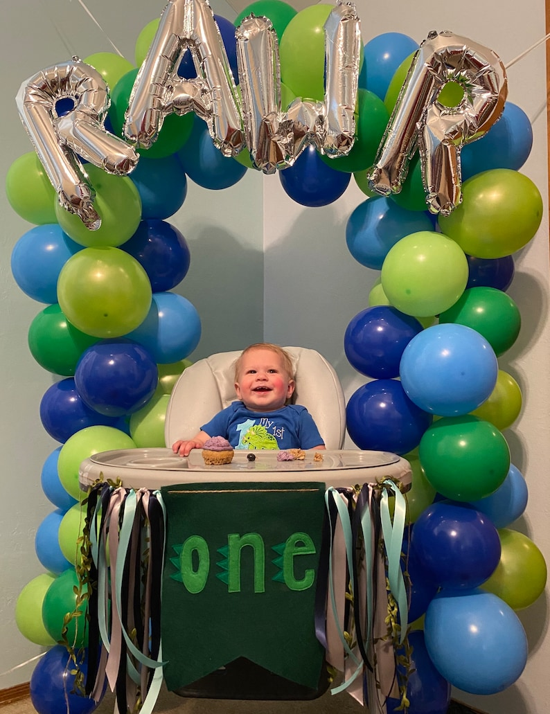 High Chair Banner for First Birthday