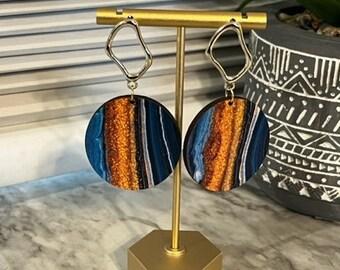 Cree Wooden Statement Earrings
